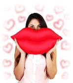 Red sexy lips — Stock Photo