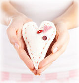 Soft toy heart-shaped — Stock Photo