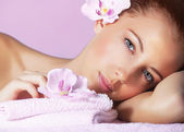 Female in spa salon — Stock Photo