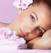 Girl enjoying dayspa — Stock Photo