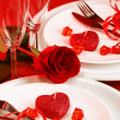 Romantic table setting — Stock fotografie