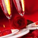 Valentine day dinner — Stock Photo