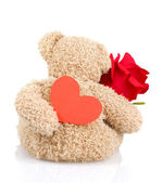 Soft toy for Valentine day — Zdjęcie stockowe