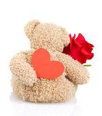 Zacht stuk speelgoed voor dag van de valentijnskaart — Stockfoto