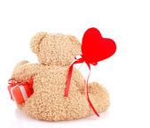 Back side of teddy bear — Stock Photo