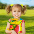 Happy little girl — Stock Photo #19671333