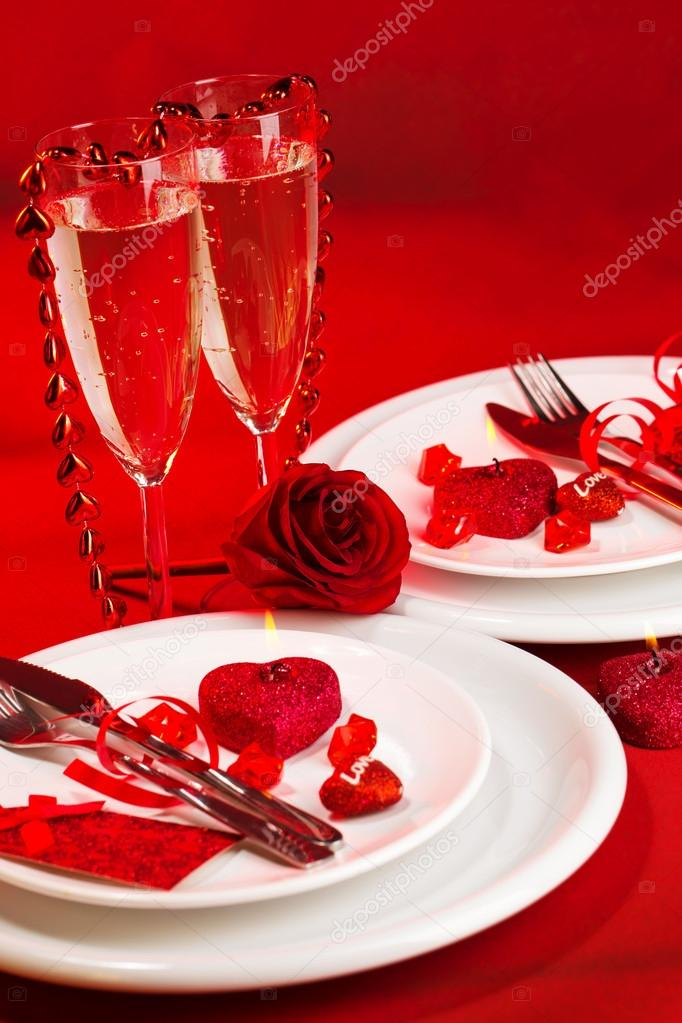 Valentine day dinner stock photo anna om 19670549 for Table 52 valentine s day