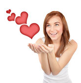 Happy girl in love — Stock Photo