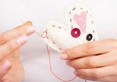Handmade heart — Stock Photo