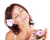 Woman enjoying dayspa — Stock Photo