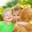 Stock Photo: Two little child hugging