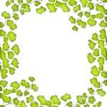 Marco de hojas verdes — Foto de Stock