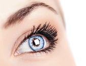 Female blue eye — Stock Photo