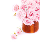 Pink roses bouquet — Stock Photo