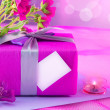 Pink giftbox for mother - Stock Photo