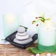 Spa stones and candle — Stock Photo