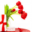 Red tulips for mother - Stock Photo