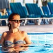 Woman in the pool — Stock Photo #21648347