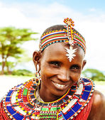 Mulher africana tribal — Foto Stock