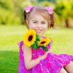Happy baby girl — Stock Photo