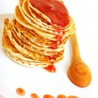 Tasty pancakes with syrop - Stock Photo