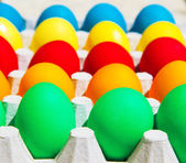 Different colors Easter eggs — Stock Photo