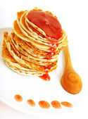 Tasty pancakes with syrop — Stock Photo