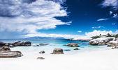 Paradise beach panoramic landscape — Stock Photo