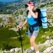 Royalty-Free Stock Photo: Sporty woman in the mountains
