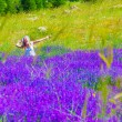Royalty-Free Stock Photo: Woman on lavender field