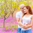Lovers hugging outdoors — Stock Photo #24535273