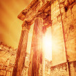 Temple of Jupiter ancient roman city - Stock Photo