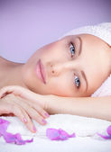 Beautiful woman at spa — Stock Photo