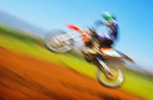 Biker on motocross — Stock Photo