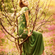 Fairy-tail forest nymph — Stock Photo
