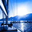 Постер, плакат: Sail boat on the water