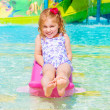 Stock Photo: Happy girl on water attractions
