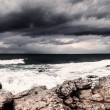 Storm on the sea — Stock Photo