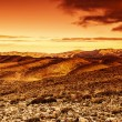 Dramatic sunset in desert — Stock Photo