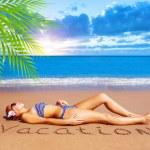 Sexy woman on the beach — Stock Photo