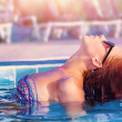 Cute woman in the pool — Stock Photo #25561785