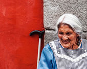 Old Mexican grandma — Stock Photo