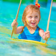 Royalty-Free Stock Photo: Cheerful girl in aqua-park