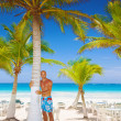 Handsome man on tropical resort — Stock Photo