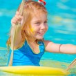 Baby girl in water park — Stock Photo #26484109