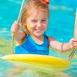Cute little girl in water park — Stock Photo #26484117