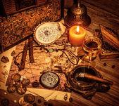Pirates treasure background — Stock Photo