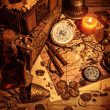 Stock Photo: Pirates treasure still life