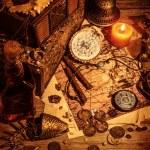 Pirates treasure still life — Stock Photo