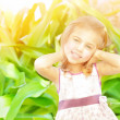 Happy little girl outdoors — Stock Photo #27145659